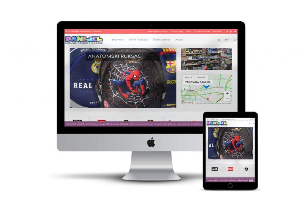 Primjer web shopa koji smo izradili za klijenta