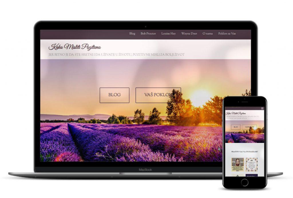 Primjer web stranice koju smo izradili za naš brend